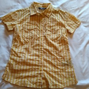 The North Face womens xs yellow plaid vent shirt